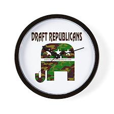 Draft Republicans Wall Clock