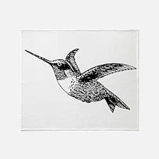 Hummingbird Sketch Throw Blanket