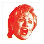 "Hillary Rage Square Car Magnet 3"" x 3"""