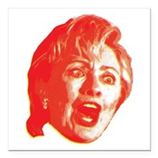 "Hillary Rage Square Car Magnet 3"" x 3"""