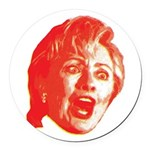 Hillary Rage Round Car Magnet