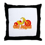 Old School Big Wheel Throw Pillow