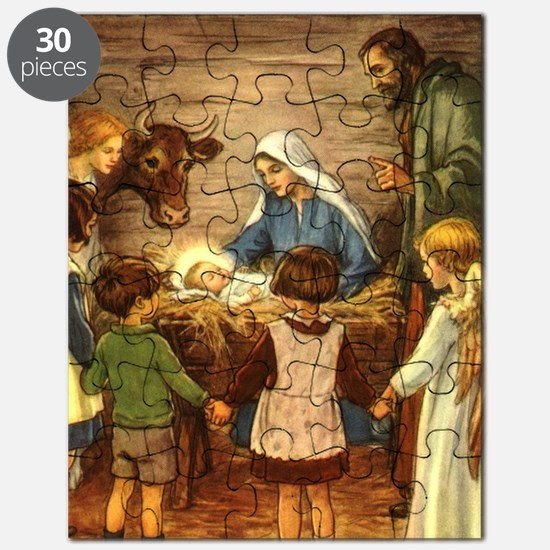 Vintage Christmas Nativity Puzzle
