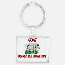Goat141258 Landscape Keychain