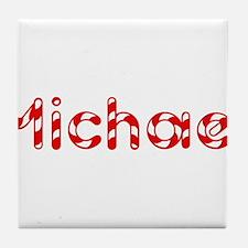 Michael - Candy Cane Tile Coaster