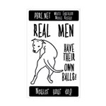Real Men Rectangle Sticker