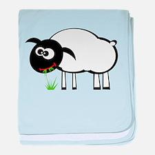 White Sheep baby blanket