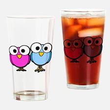 Googly Eye Birds Drinking Glass
