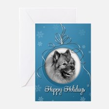 Elegant Keeshond Holiday Cards (Pk of 20)