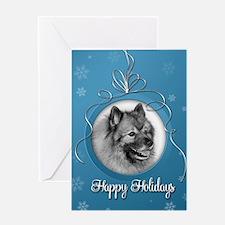 Elegant Keeshond Holiday Card