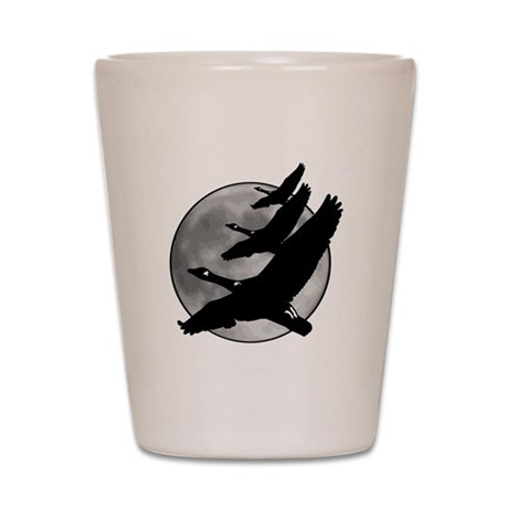 Canadian Geese Shot Glass