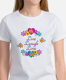 Live Laugh Love Flowers Tee