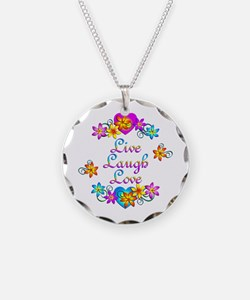 Live Laugh Love Flowers Necklace