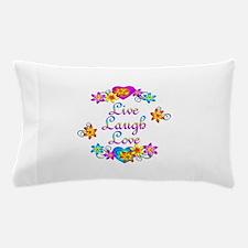 Live Laugh Love Flowers Pillow Case
