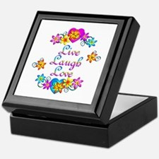 Live Laugh Love Flowers Keepsake Box