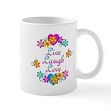 Live Laugh Love Flowers Mug