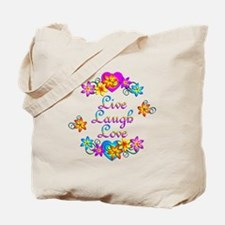 Live Laugh Love Flowers Tote Bag