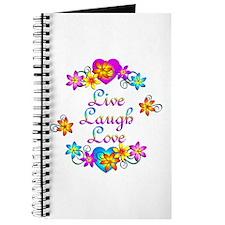Live Laugh Love Flowers Journal
