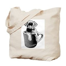 Cool Pug mix Tote Bag