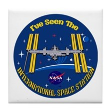 I Saw the ISS!! Tile Coaster