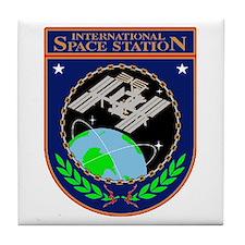 Iss Program Logo Tile Coaster