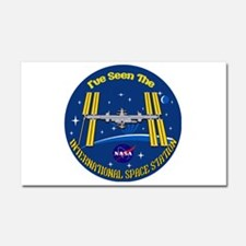 I Saw the ISS!! Car Magnet 20 x 12