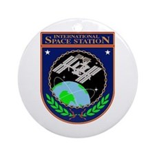 Iss Program Logo Ornament (round)