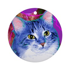 Cat Ornament (Round)