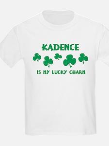 Kadence is my lucky charm Kids T-Shirt