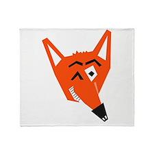 Winking Fox Throw Blanket