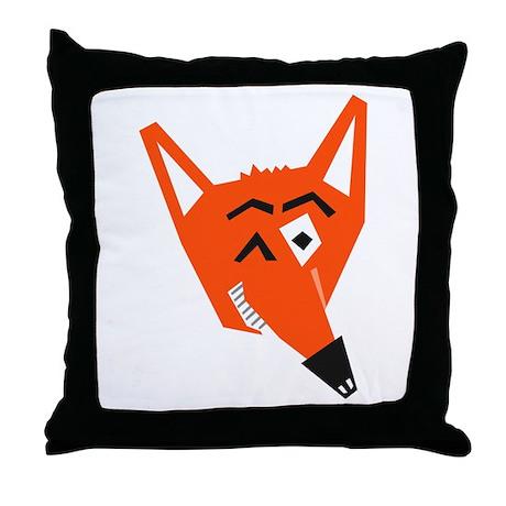 Winking Fox Throw Pillow