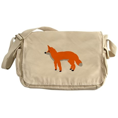 Orange Fox Pup Messenger Bag