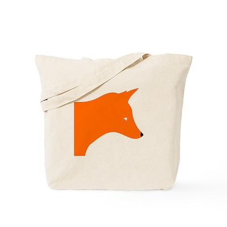 Orange Fox Tote Bag