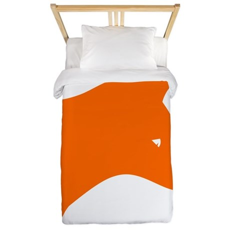 Orange Fox Twin Duvet