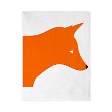 Orange Fox Twin Duvet