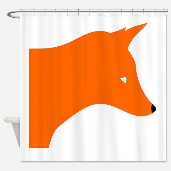 Orange Fox Shower Curtain