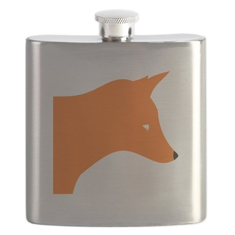 Orange Fox Flask