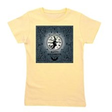 Modern Vintage Halloween Witching Hour Girl's Tee