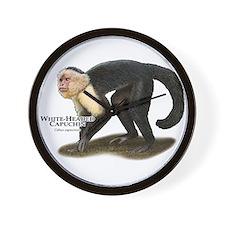 White-Headed Capuchin Wall Clock
