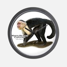 White-Headed Capuchin Wall Clock