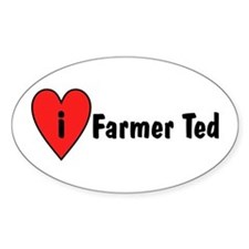 I Love Farmer Ted Decal