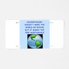 paleontology Aluminum License Plate