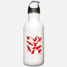Red Eagles Silhouette Sports Water Bottle