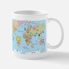 World Map For Kids - Hand Drawn Design Mug