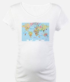 World Map For Kids - Hand Drawn Design Shirt