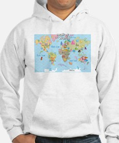 World Map For Kids - Hand Drawn Design Hoodie