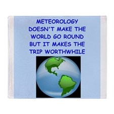 meteorology Throw Blanket