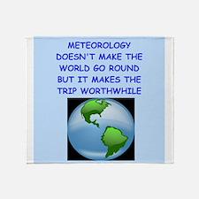 meteorology Throw Blanket