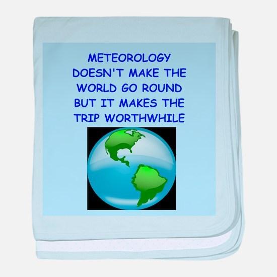 meteorology baby blanket