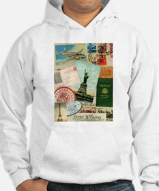Vintage Passport travel collage Hoodie